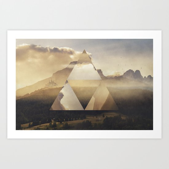 Hyrule - Power of the Triforce Art Print