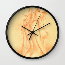 Dream Woman - Female Nude Wall Clock