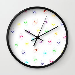 Skullcake multicolor Wall Clock