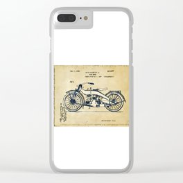 HD Motorcycle Patent - Circa 1924 Clear iPhone Case