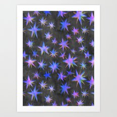 Starry Night {grey} Art Print