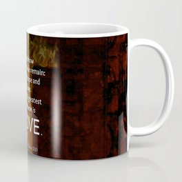 1 Corinthians 13:13 Bible Verses Quote About LOVE Coffee Mug