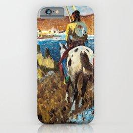 WINTER CAMP OF THE SIOUX - William Herbert Dunton iPhone Case