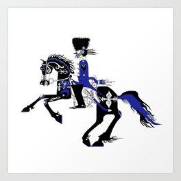 The Queen of Spades - The Horseman Art Print