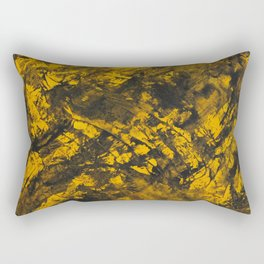 Black Ink on Yellow Background Rectangular Pillow