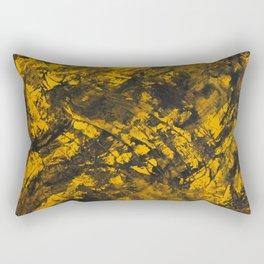 Black Ink on Yellow Background Rectangular Pillow