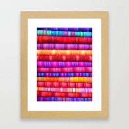 Bright Fabric Framed Art Print