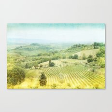 san giovanni - hill side vinyard in florence Canvas Print