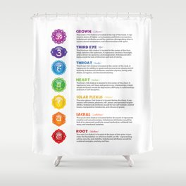 Seven Chakra Poster Illustration #16 Shower Curtain