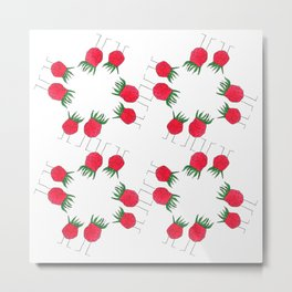 wild strawberries Metal Print