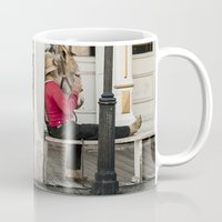 donkey Mugs featuring Donkey by Joëlle Paquet