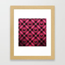 Galactica Plaid Framed Art Print