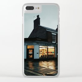 the lights of the shop Clear iPhone Case