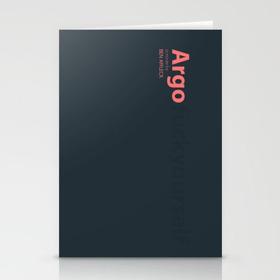 Argo - minmal poster Stationery Cards