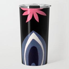 de Flower [black] Travel Mug