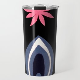 de Flower [black] Travel Mug