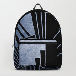 Indigo blue art deco design Backpack