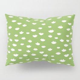 Greenery Petals Pattern Pillow Sham