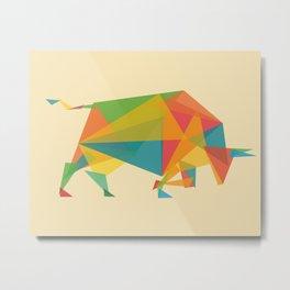 Fractal Geometric Bull Metal Print