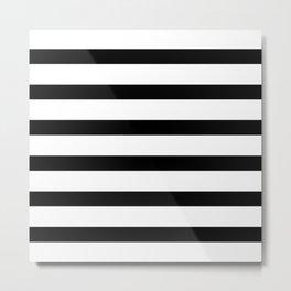 Black Stripes on White Metal Print