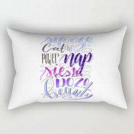 Nap Time Hand Lettered Rectangular Pillow