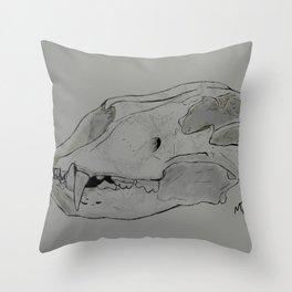 Lion Skull Study Throw Pillow