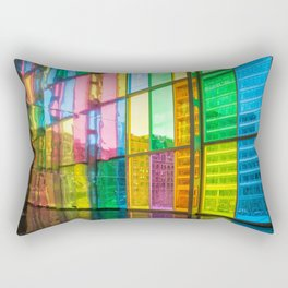 Wall of Rainbows Rectangular Pillow