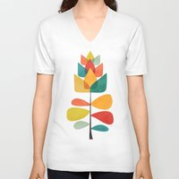 spring V-neck T-shirts featuring Spring Time Memory by Picomodi