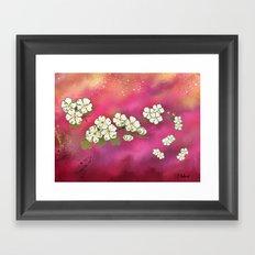 Cherry Blossom Sky Framed Art Print