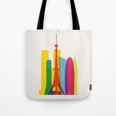 Shapes of Tokyo. Accurate to scale. Tote Bag