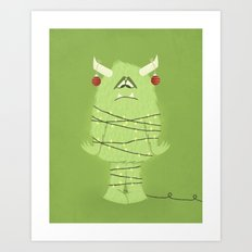 Holiday Monster Art Print