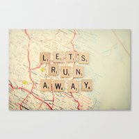 run Canvas Prints featuring let's run away by shannonblue