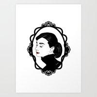 audrey hepburn Art Prints featuring Audrey Hepburn  by Pendientera