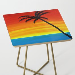 Sunset Palm Side Table