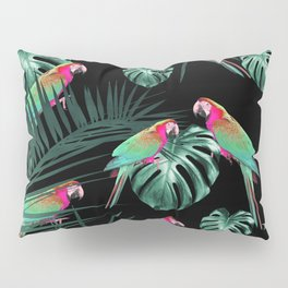 Parrots in the Tropical Jungle Night #1 #tropical #decor #art #society6 Pillow Sham