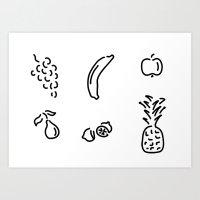 fruit fruits Art Print
