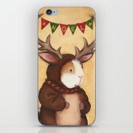 Ferdie the Christmas Reindeer Guinea Pig iPhone Skin