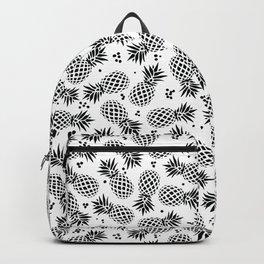 Black & White Pineapple Pattern Backpack