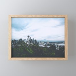 Seattle afternoon views Framed Mini Art Print