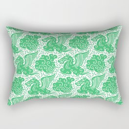Pegasus Pattern Green Rectangular Pillow