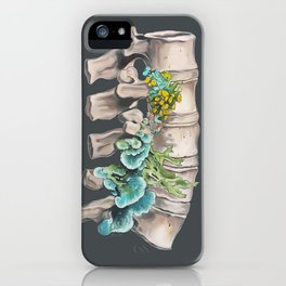 Floral Lumbar Spine iPhone Case