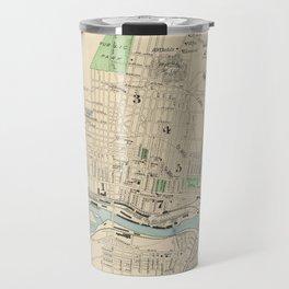 Vintage Map of Manchester NH (1892) Travel Mug