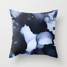 BLUE INK 22 Throw Pillow