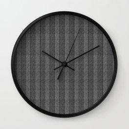 """Grey Vertical Lines Wool Texture"" Wall Clock"