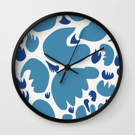 Abstract Blue Sea Pattern Illustration Decoration French Art Wall Clock