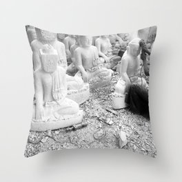 Buddha Sculptor Throw Pillow