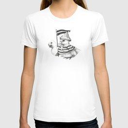 Duck War (Black and White) T-shirt