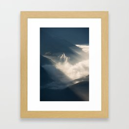 Fog and cloudscape viewed from above. Fronalpstock, Switzerland Framed Art Print