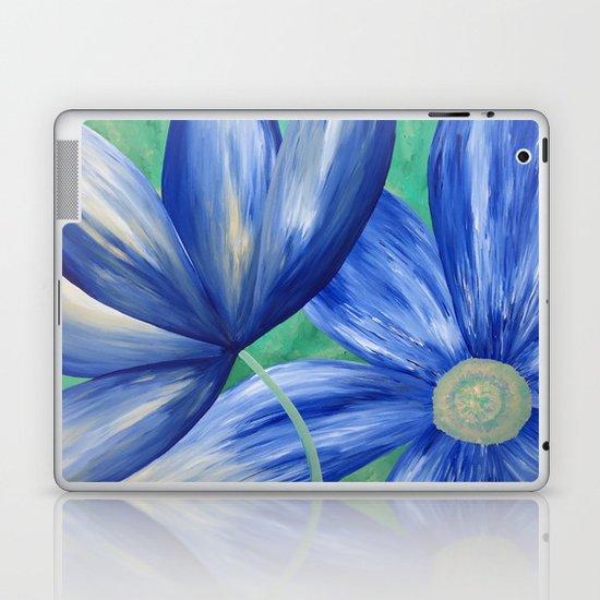 Large Blue Flowers Laptop & iPad Skin