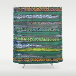 Polynesian Night Vision Print Shower Curtain